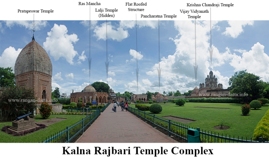 Panoramic view of Kalna Rajbari Complex